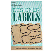 Kraft Ornate Designer Labels